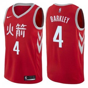 Maillot Basket Barkley Rockets Homme #4 City Edition Rouge Nike