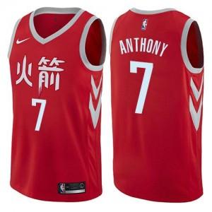 Maillot Basket Carmelo Anthony Houston Rockets Rouge No.7 City Edition Nike Enfant