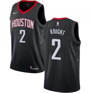 Maillots Basket Knight Rockets Nike Noir Statement Edition #2 Homme