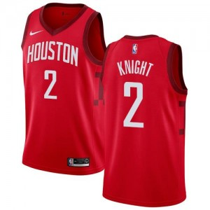 Nike NBA Maillot Knight Rockets No.2 Rouge Earned Edition Homme