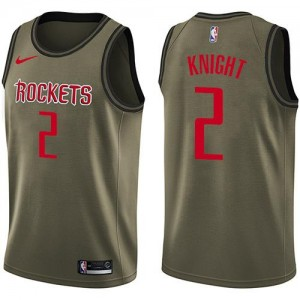 Nike Maillot De Knight Houston Rockets vert Salute to Service Homme #2