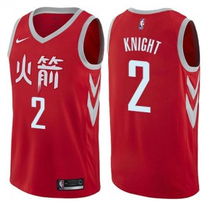 Nike NBA Maillot De Basket Brandon Knight Houston Rockets Homme City Edition No.2 Rouge