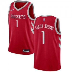 Nike NBA Maillot De Basket Michael Carter-Williams Rockets #1 Homme Icon Edition Rouge