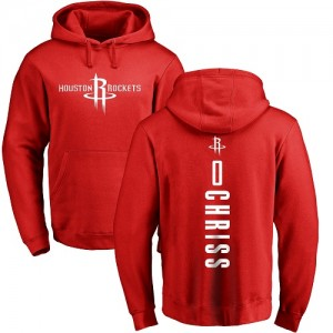 Hoodie Basket Chriss Houston Rockets No.0 Rouge Backer Homme & Enfant Pullover Nike