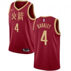 Nike Maillot De Charles Barkley Rockets 2018/19 City Edition No.4 Enfant Rouge