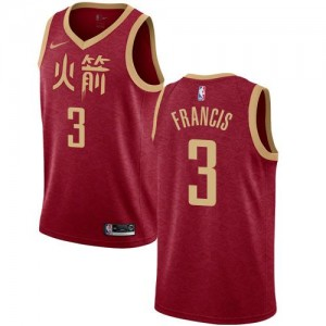 Maillots Basket Steve Francis Houston Rockets Nike Rouge Enfant #3 2018/19 City Edition