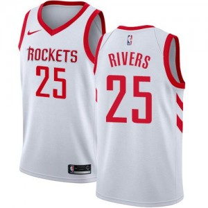 Nike NBA Maillot Basket Austin Rivers Rockets Association Edition Blanc Homme #25