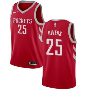 Nike NBA Maillot Basket Rivers Rockets Icon Edition Rouge Enfant No.25