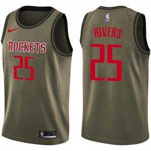 Nike NBA Maillots Austin Rivers Houston Rockets Homme Salute to Service vert #25