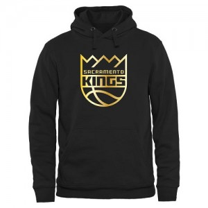NBA Sweat à capuche Kings Gold Collection Pullover Noir Homme