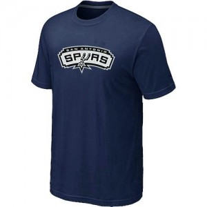 Tee-Shirt De Basket San Antonio Spurs bleu marine Big & Tall Primary Logo Homme
