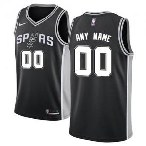 Maillot Personnalisé San Antonio Spurs Noir Nike Homme Icon Edition