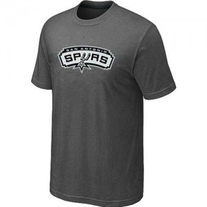 Tee-Shirt De Basket San Antonio Spurs Big & Tall Primary Logo Gris foncé Homme