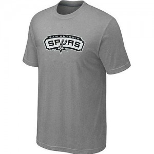 T-Shirt De Basket San Antonio Spurs Gris Homme Big & Tall Primary Logo