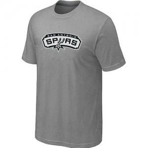 T-Shirt De Basket San Antonio Spurs Gris Homme Big & Tall Primary Logo