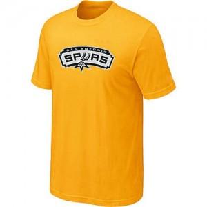 NBA Tee-Shirt De San Antonio Spurs Big & Tall Primary Logo Homme Jaune