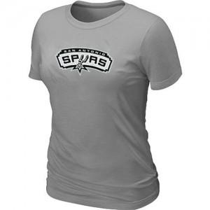 T-Shirt De Spurs Big & Tall Primary Logo Femme Gris