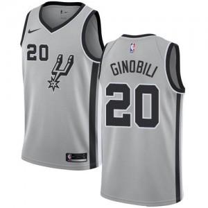 Nike NBA Maillots De Basket Ginobili San Antonio Spurs No.20 Argent Homme Statement Edition