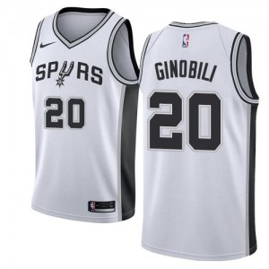 Nike NBA Maillots De Manu Ginobili Spurs Blanc Enfant #20 Association Edition
