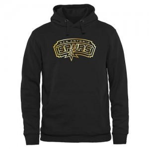 NBA Sweat à capuche De San Antonio Spurs Homme Noir Gold Collection Pullover