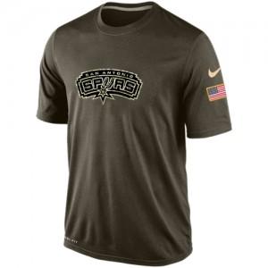 Nike T-Shirt San Antonio Spurs Olive Salute To Service KO Performance Dri-FIT Homme