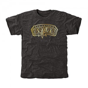 Tee-Shirt San Antonio Spurs Noir Homme Gold Collection Tri-Blend