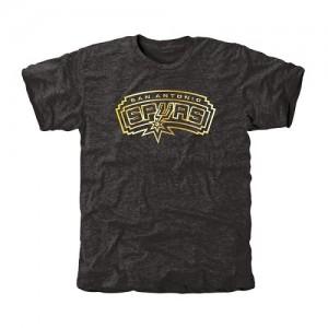 Tee-Shirt San Antonio Spurs Noir Homme Gold Collection Tri-Blend