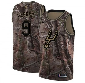 Nike Maillots Basket Parker San Antonio Spurs Realtree Collection No.9 Camouflage Homme