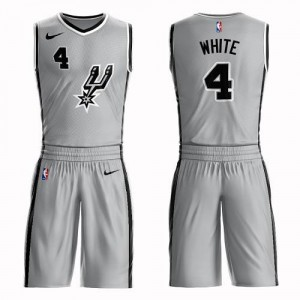 Nike Maillots Derrick White San Antonio Spurs Suit Statement Edition #4 Argent Homme