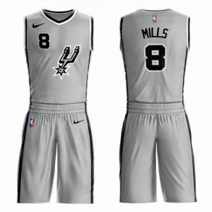 Nike NBA Maillots Basket Mills San Antonio Spurs Argent Homme Suit Statement Edition No.8