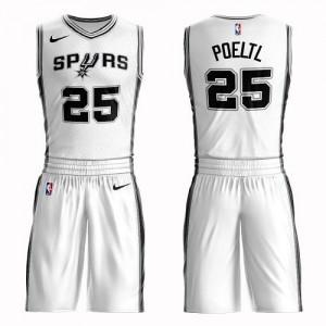 Nike Maillot De Basket Poeltl San Antonio Spurs Suit Association Edition No.25 Blanc Homme