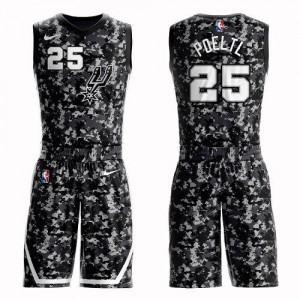 Maillots De Jakob Poeltl Spurs No.25 Nike Homme Camouflage Suit City Edition
