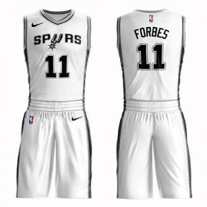 Nike Maillots De Basket Forbes Spurs Blanc Suit Association Edition Homme No.11