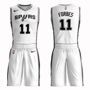 Nike Maillots De Basket Forbes Spurs Blanc Suit Association Edition Homme No.11