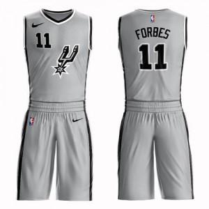 Maillots Basket Bryn Forbes San Antonio Spurs No.11 Suit Statement Edition Enfant Argent Nike