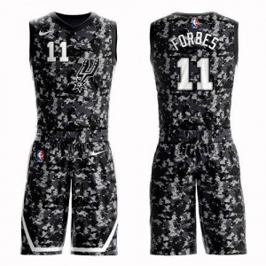 Nike NBA Maillot Forbes Spurs Homme #11 Camouflage Suit City Edition