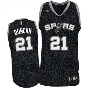 Adidas NBA Maillot Duncan San Antonio Spurs Homme Crazy Light No.21 Noir
