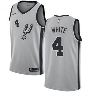 Nike Maillot Derrick White Spurs Argent Statement Edition Homme #4