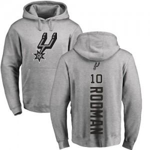 Sweat à capuche De Dennis Rodman Spurs Pullover Ash Backer #10 Homme & Enfant Nike