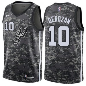 Nike NBA Maillots DeMar DeRozan San Antonio Spurs City Edition Enfant No.10 Camouflage