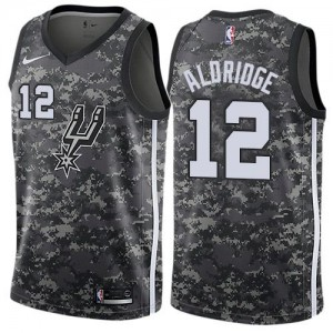 Maillot Aldridge Spurs City Edition Camouflage No.12 Enfant Nike