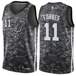 Maillots Forbes San Antonio Spurs Nike Camouflage Homme #11 City Edition