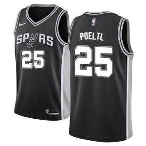 Nike NBA Maillots De Jakob Poeltl San Antonio Spurs Homme Icon Edition Noir No.25
