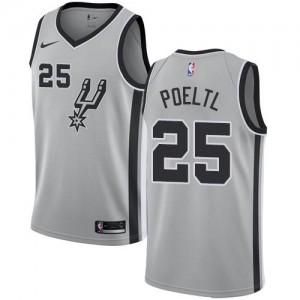 Maillot Poeltl San Antonio Spurs Nike Homme #25 Statement Edition Argent