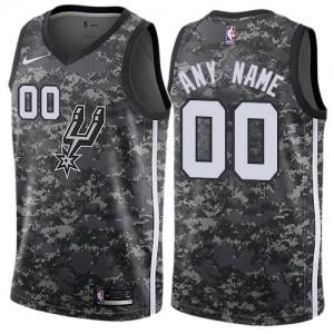 Nike Personnalisé Maillot De Basket Spurs City Edition Camouflage Enfant