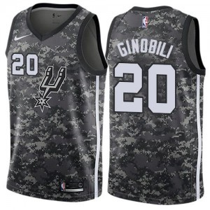 Nike NBA Maillot De Basket Ginobili Spurs #20 Enfant Camouflage City Edition