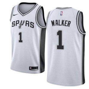 Maillots Basket Walker San Antonio Spurs Nike Association Edition Enfant Blanc No.1