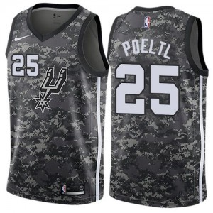 Maillot Basket Jakob Poeltl San Antonio Spurs Homme Nike Camouflage City Edition No.25