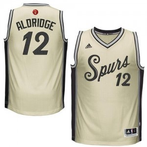 Adidas Maillot Aldridge San Antonio Spurs 2015-16 Christmas Day Enfant Blanc laiteux No.12