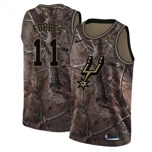 Nike NBA Maillot De Bryn Forbes San Antonio Spurs Homme Realtree Collection #11 Camouflage